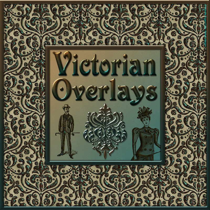 Design Resource: VICTORIAN Transparent Seamless Overlay Pack