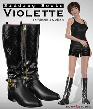 Riding Boots Violette 3D Figure Essentials kony