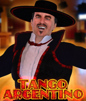 Tango Argentino for Disco Dancer 3D Figure Assets Cybertenko