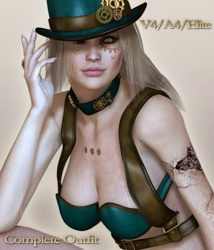 SteamPunk It Hot V4/A4/Elite 3D Figure Assets nirvy