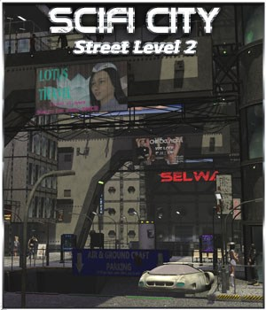 SciFi City Street Level 2 3D Models 3-d-c