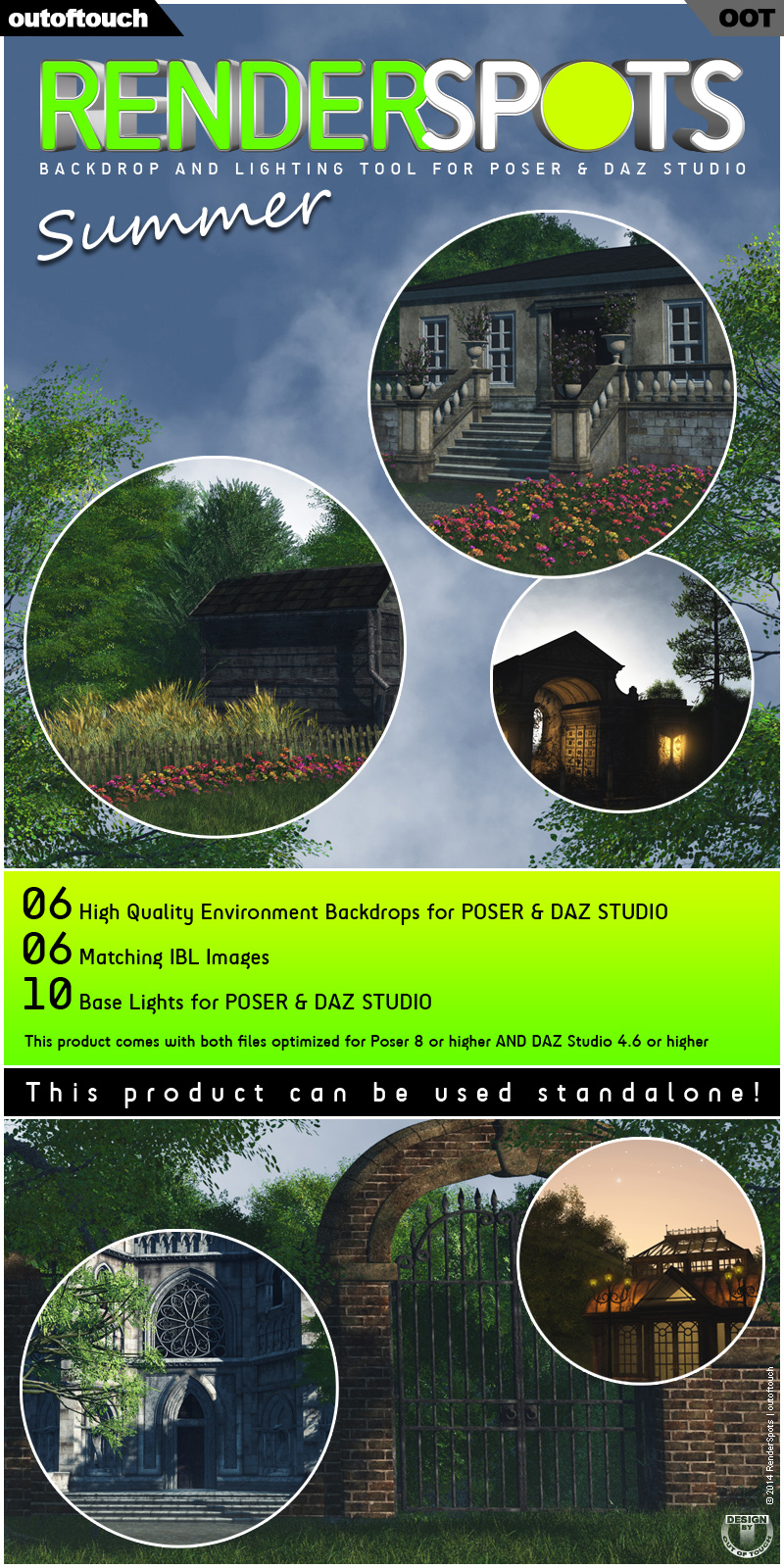 RenderSpots Summer for Poser and DAZ Studio