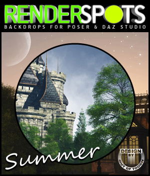 RenderSpots Summer for Poser and DAZ Studio 3D Models outoftouch
