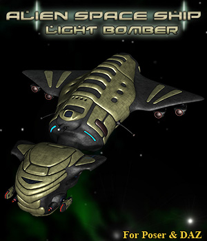 Alien Light Bomber 3D Models Simon-3D