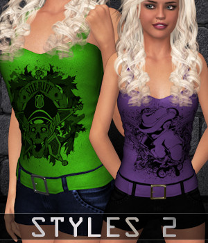 STYLES 2 for Hot Romper 3D Figure Assets ANG3L_R3D