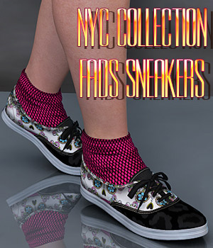 NYC Collection: Fads Sneaker Shoes 3D Figure Essentials 3DSublimeProductions