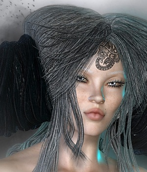 Glitteratti for Greek Fantasy I Hair 3D Figure Assets Spiritfoxy
