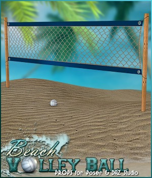 Beach Volley Ball - Props 3D Models Sveva