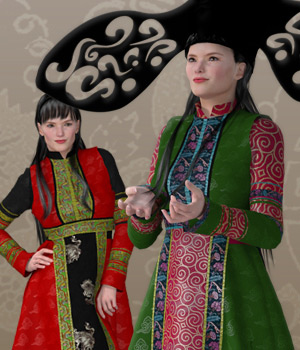 Mongolian Princess for V4 3D Figure Assets NDimension