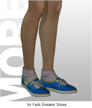 MORE Textures & Styles for Fads Sneaker Shoes 3D Figure Assets motif