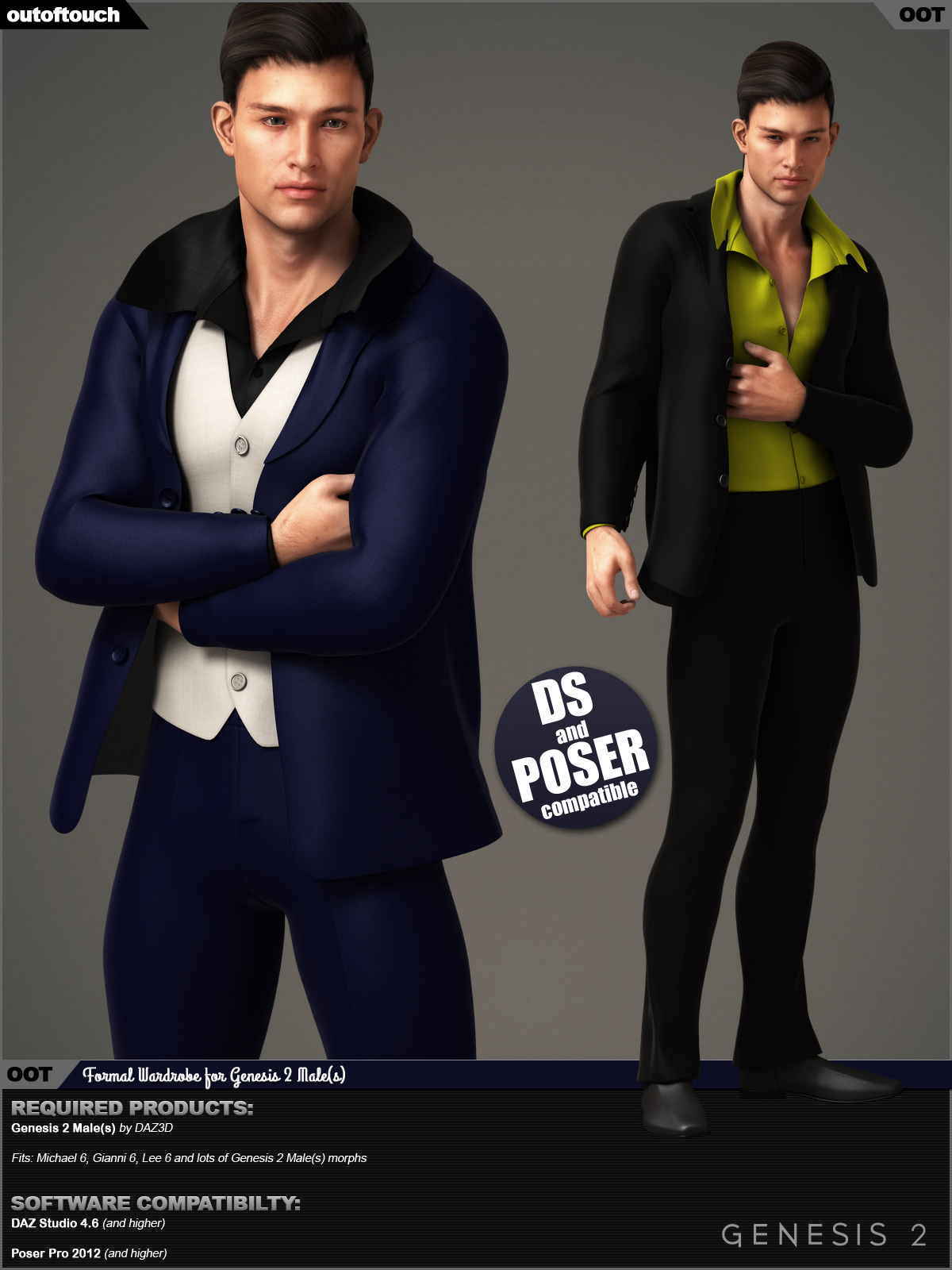 Formal Wardrobe for Genesis 2 Male(s)