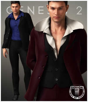 Formal Wardrobe for Genesis 2 Male(s) 3D Figure Assets outoftouch