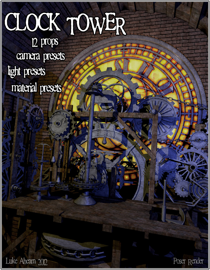 Steampunk Clock Tower - Extended License