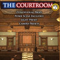 The Courtroom - Extended License 3D Models Gaming LukeA