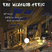 The Wizards Attic - Extended License 3D Models Gaming LukeA