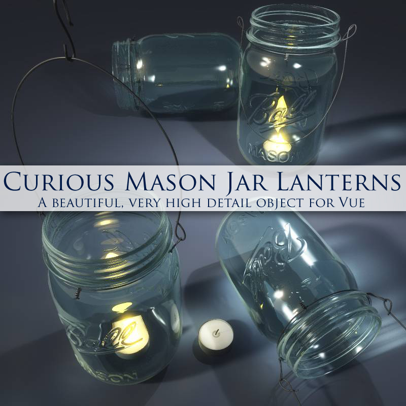 Curious Mason Jar Lantern for Vue