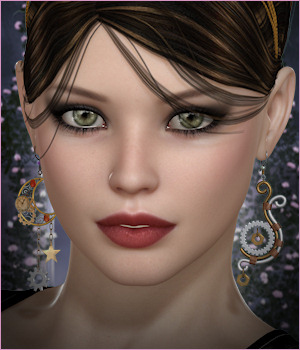 Dazzle for Steampunk Earrings 3D Figure Assets -Wolfie-
