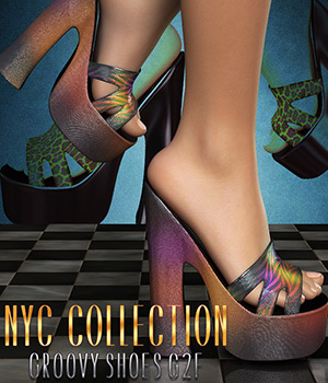 NYC Collection: GroovyShoes G2F 3D Figure Assets 3DSublimeProductions