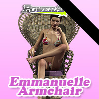 Emmanuelle Armchair - Extended License 3D Figure Essentials 3D Models Gaming powerage