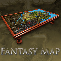 Fantasy Map - Extended License 3D Models Gaming powerage