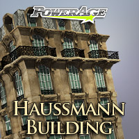 Haussmann Building - Extended License 3D Models Extended Licenses powerage