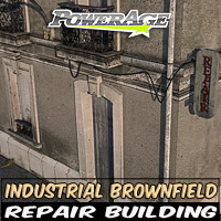Industrial Brownfield: Repair Bldg - Extended License Gaming 3D Models powerage