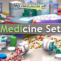 Medicine Set for Poser - Extended License 3D Models Extended Licenses powerage
