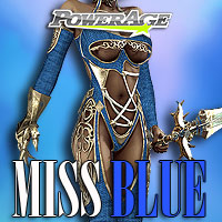 Miss Blue - Extended License 3D Figure Assets Extended Licenses powerage