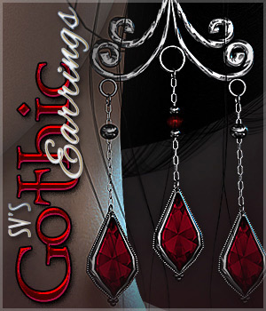 SV's Gothic Earrings - Extended License 3D Figure Assets Extended Licenses Sveva