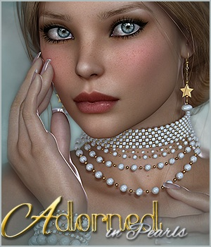 SV's Adorned in Pearls - Extended License 3D Figure Assets 3D Models Extended Licenses Sveva