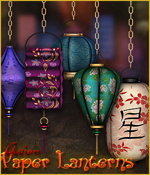 SV's Asian Paper Lanterns - Extended License 3D Models Extended Licenses Sveva