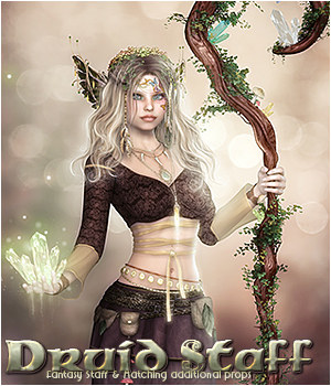 SV's Druid Staff - Extended License 3D Models Gaming Extended Licenses Sveva