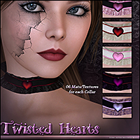SV Twisted Heart Chokers - Extended License image 1
