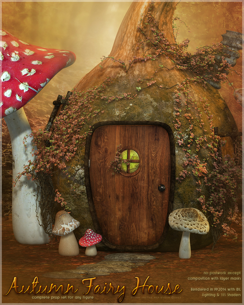 SV's Autumn Fairy House - Extended License