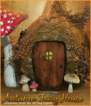 SV's Autumn Fairy House - Extended License 3D Models Extended Licenses Sveva