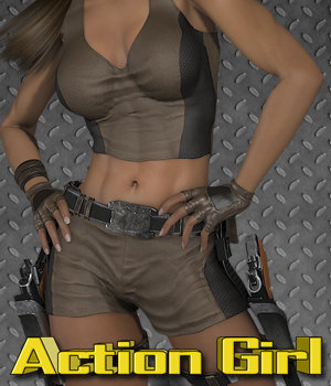 Exnem Action Girl 3D Figure Assets exnem