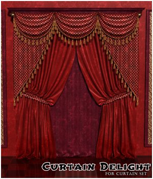 Curtain Delight for Classic Curtains Set 3D Figure Essentials sandra_bonello