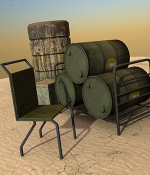 Desert Land: Props - Extended License Gaming 3D Models RPublishing