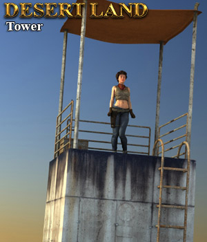 Desert Land: Tower - Extended License 3D Models 3D Figure Essentials RPublishing