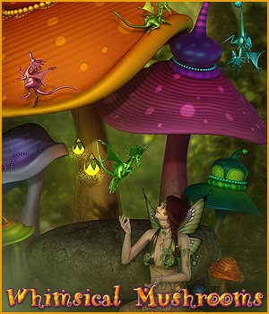 SV's Whimsical Mushrooms - Extended License 3D Models Extended Licenses Sveva