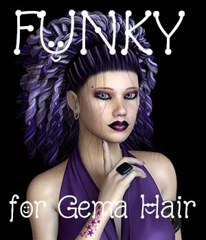 FUNKY for Gema Hair 3D Figure Assets Divakatt