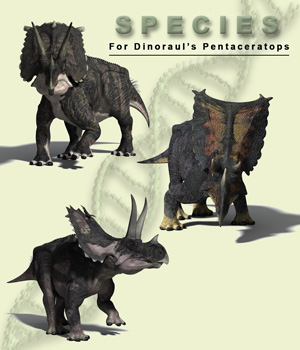 Species for Pentaceratops 3D Figure Essentials MNArtist