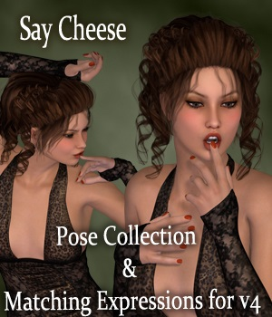 Say Cheese Poses and Expressions for V4 3D Figure Assets vanda51