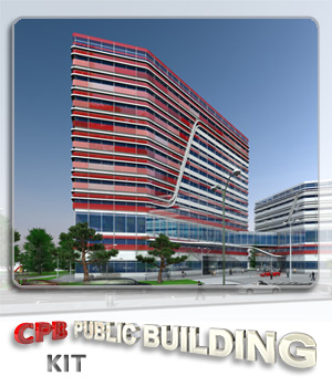 CPB Contemporary Public Building 3D Models whitemagus