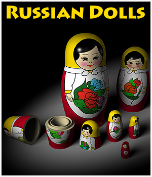 Russian Dolls 3D Models CaymanStudios