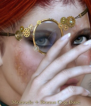 SteamPunk It Hot Monocle 3D Figure Assets nirvy
