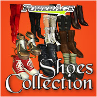 Powerage's Shoes Collection - Extended License 3D Figure Assets Extended Licenses powerage