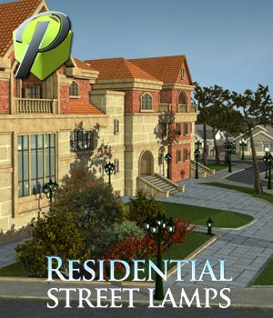 Residential Street Lamps - Extended License 3D Models Gaming powerage
