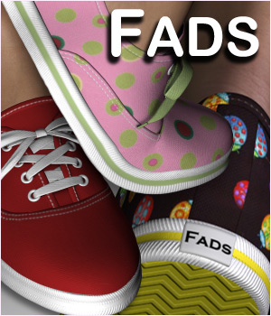 Fads Sneaker Shoes - Extended License 3D Figure Assets 3D Models Extended Licenses RPublishing