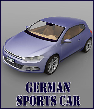 German Sports Car - Extended License 3D Models Gaming RPublishing